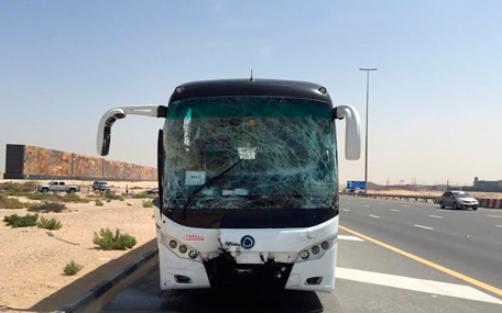 The buses were carrying students on a trip to Abu Dhabi. (EAY)
