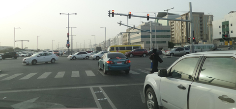 This picture released by Abu Dhabi Police shows breaking of road rules in UAE. (Supplied)