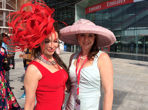 Ladies were out and ready in their finest for the Dubai World Cup. (Ajanta Paul)