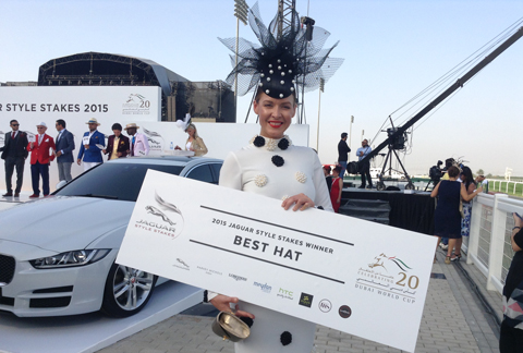 Natalia Shustova bagged the 'Best Hat' this year. (Ajanta Paul)