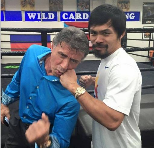 mannypacquiao @ Instagram: Sylvester Stallone! 👊 (need we say more)