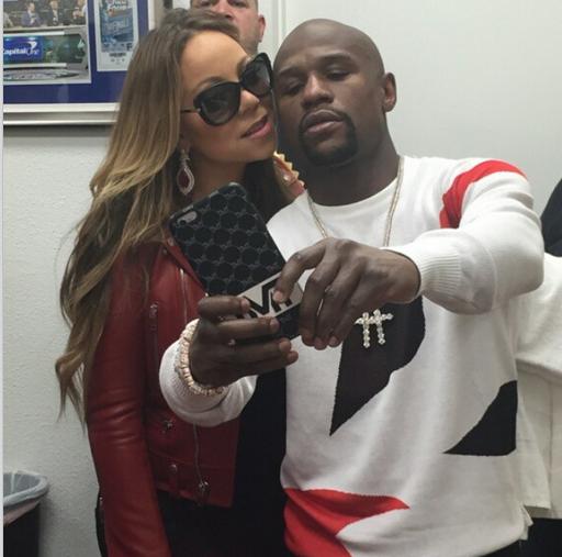 Mariah Carey @ Instagram: #Team Floyd @floydmayweather