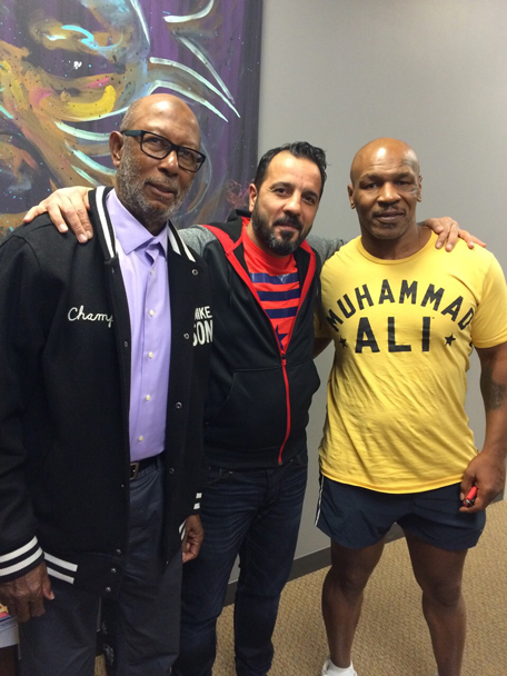 'Prince' Amir Shafypour with Mike Tyson and Don King in Las Vegas. (Supplied)