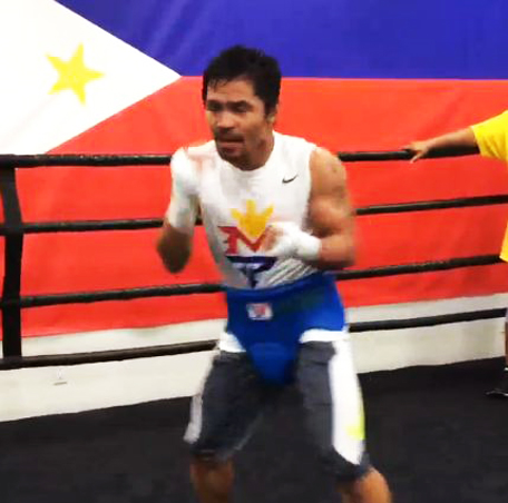 Manny Pacquiao, of the Philippines. (Screen grab shot)
