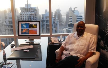 M Akbar Muhammad, president of Akbar Productions LLC during an interview in Dubai. (Allaam Ousman)