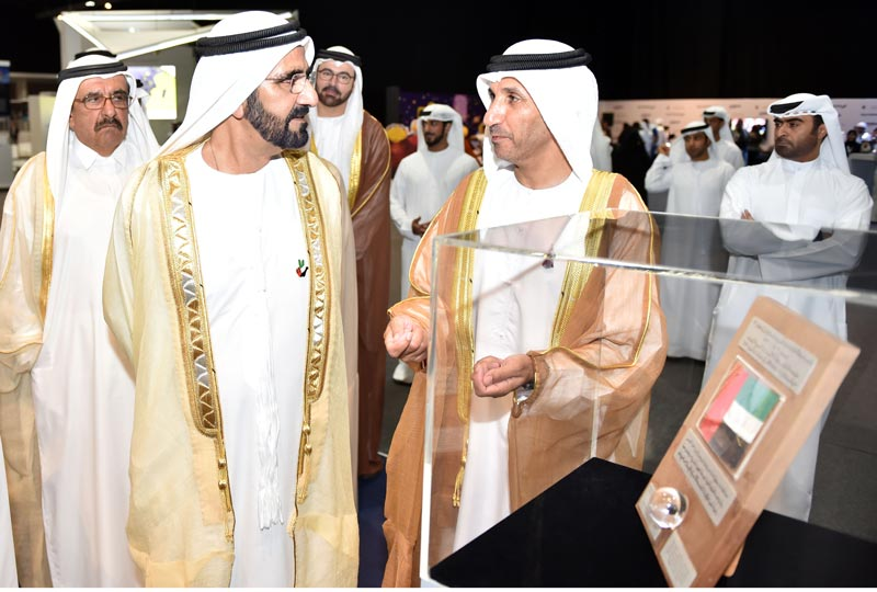 His Highness Sheikh Mohammed bin Rashid Al Maktoum, Vice-President and Prime Minister of the UAE and Ruler of Dubai, on Monday witnessed the launch of the Strategic Plan for the UAE Space Agency in Abu Dhabi. (Wam)
