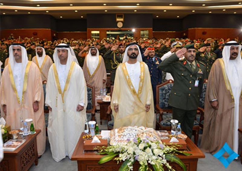 Sheikh Mohammed bin Rashid Al Maktoum attending JCSC 24th graduation ceremony in Abu Dhabi on Monday. (Picture courtesy GDMO)