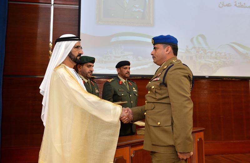 Sheikh Mohammed bin Rashid Al Maktoum attending JCSC 24th graduation ceremony in Abu Dhabi on Monday. (Wam)