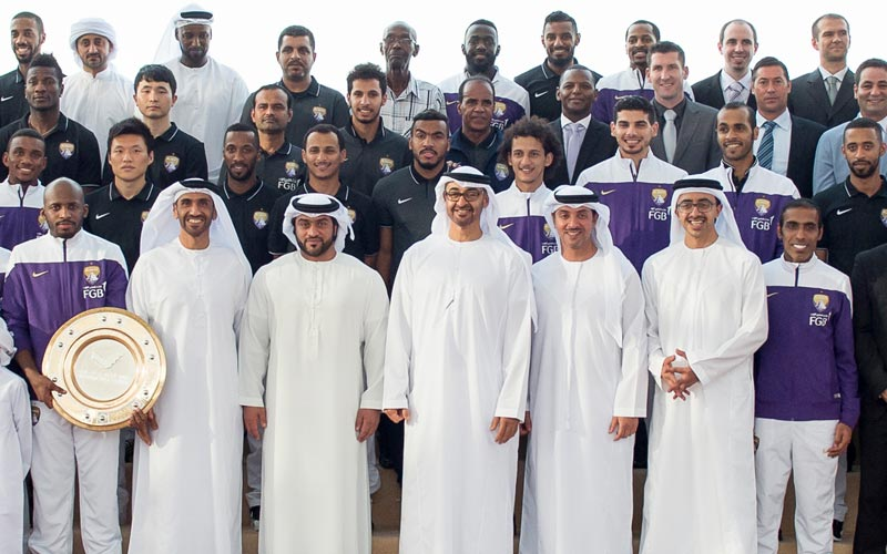 Gen. Mohamed receives Al Ain FC team - Emirates 24|7