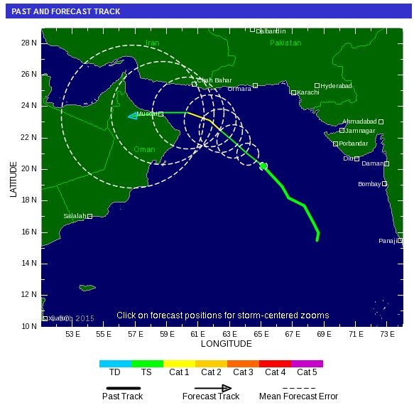 Tropical Storm Risk has forecast the trajectory and intensity of the storm over the next four days. (Supplied)