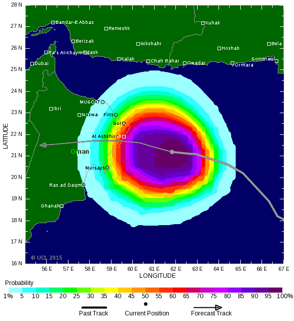 Ashobaa forecast in 12 hours. Issued by the Tropical Storm Risk Centre. (Supplied)