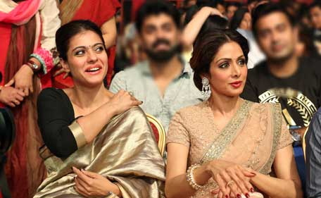Indian Actress Kajol And Sridevi Attend Asiavison Radio Television Awards In Dubai Supplied