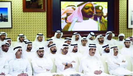Mohamed bin Zayed at the function (WAM)
