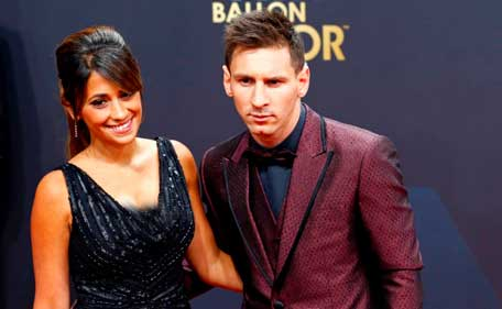 Image result for picture of messi and his girlfriend