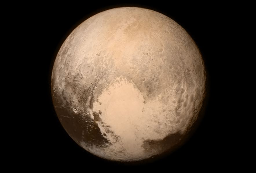 Pluto nearly fills the frame in this image from the Long Range Reconnaissance Imager (LORRI) aboard Nasa's New Horizons spacecraft, taken on July 13, 2015 when the spacecraft was 476,000 miles (768,000 kilometers) from the surface. This is the last and most detailed image sent to Earth before the spacecraft's closest approach to Pluto on July 14. Credits: NASA/APL/SwRI