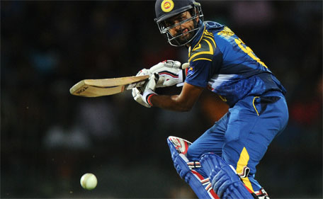 Sri Lankan cricketer Lahiru Thirimanne plays a shot during the third one day international  between Sri Lanka and Pakistan at the R. Premadasa International Cricket Stadium in Colombo on July 19, 2015. (AFP)