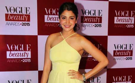 Indian actress Anushka Sharma attends the Vogue Beauty Awards 2015 on July 21 in Mumbai. (Sanskriti Media and Entertainment)