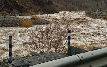 Rain left wadis near Kalba with free-flowing water. (Hind Al Tamimi)