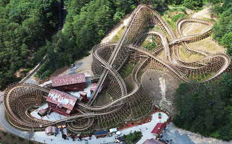 Worlds Fastest Wooden Roller Coaster At Dollywood Emirates247