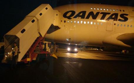 50 hours later    Qantas' Dubai QF2 flight touches down in