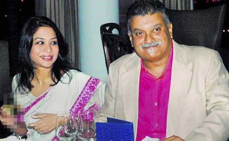Indrani Mukhejea with former Star India CEO and husband Peter Mukerjea. (Sanskriti)