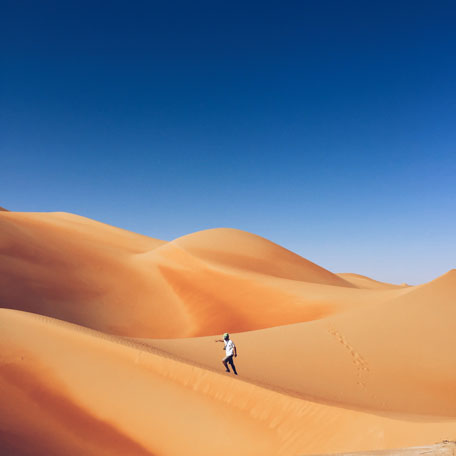 Breath-taking shot of the Liwa desert is now being to be featured in magazines, newspapers, billboards, transit posters and more.(Supplied)