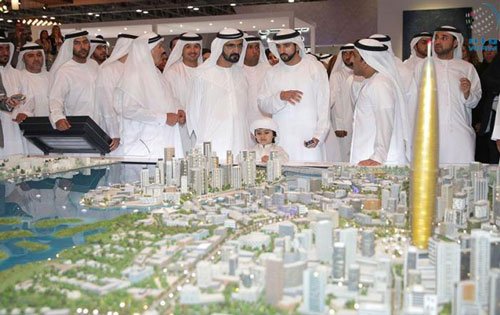 Sheikh Mohammed bin Rashid Al Maktoum tours Cityscape Global 2015 on Thursday (Wam)