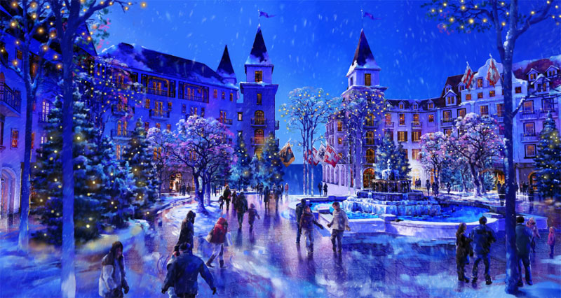 Rendering of the snow on the Swiss Island (Supplied)