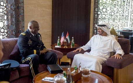 Sheikh Mohamed bin Zayed Al Nahyan meets with General Lloyd Austin III Commander of the United States Central Command (Wam)