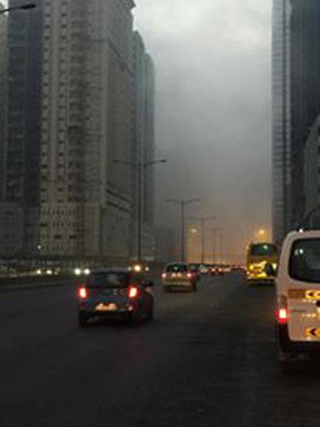 Dense fog has been reported over Al Thad, Al Madam, Al Maliha road and adjoining areas. (Pics: Muhammad Rashid)