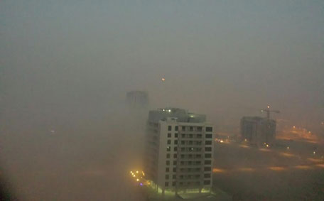 Heavy fog in Dubai this morning. (Eudore Chand)