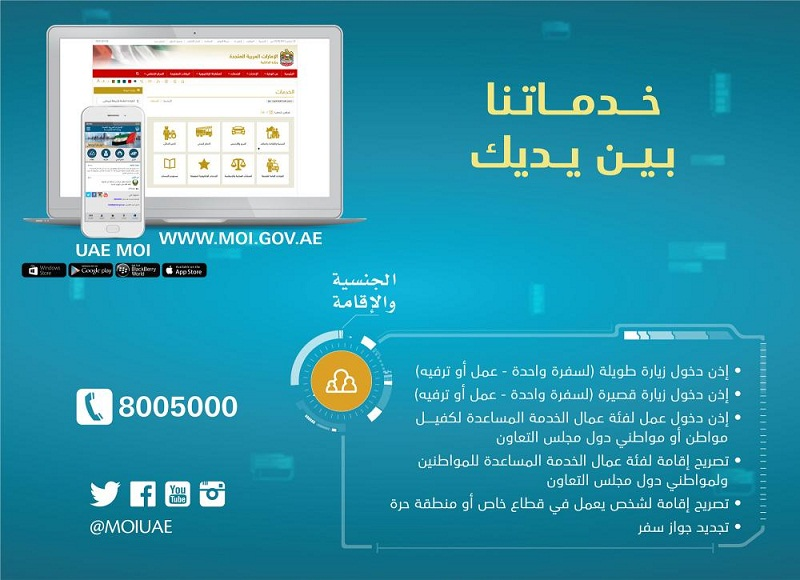 Apply For  Day Visit Visa Online Says Uaes Ministry Of Interior