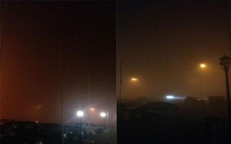 The National Centre for Meteorology and Seismology reported fog and mist in Al Ain, Swiehan, Al Minhad, Liwa, Ras Al Khaimah, Abu Dhabi–Dubai and Dubai–Al Ain roads. (Viktoriya Miteva)