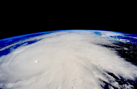 Hurricane Patricia, a Category 5 storm, is seen approaching the coast of Mexico in a Nasa picture taken from the International Space Station October 23, 2015. (Reuters)