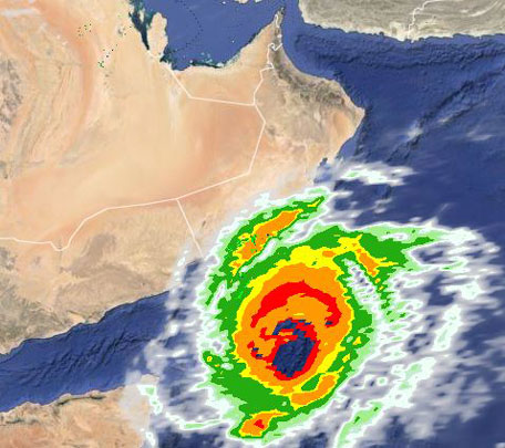 Latest satellite imagery of Chapala from UAE's National Centre for Meteorology and Seismology (NCMS).