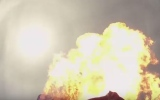 Photo: Skydiver intentionally lights parachute on fire... mid-flight