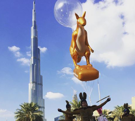 Downtowndubai @ Instagram: Kangaroos in Downtown Dubai? All is possible at The Parade-Downtown Dubai. #ParadeDowntown #UAE44 #UAENationalDay #DowntownDubai #dubai