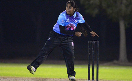 Kavisha Kumari is an off spinner. (Supplied)