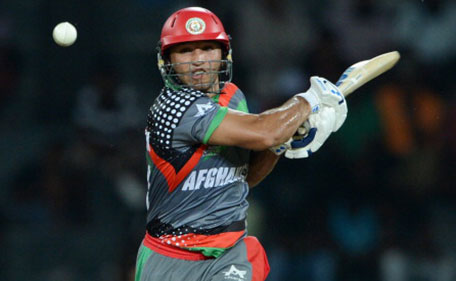Gulbodin Naib of Afghanistan bats during the ICC World Twenty20 2012: Group A match between India and Afghanistan at R. Premadasa Stadium on September 19, 2012 in Colombo, Sri Lanka. (Getty Images)