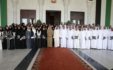 His Highness Sheikh Mohammed at the graduation ceremony of the UAE Government Leaders Programme and  the Government Capacity Building Programme. (Supplied)