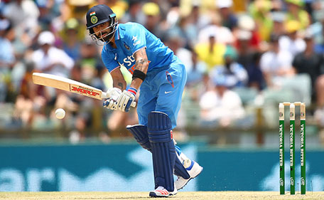 Virat Kohli of India bats during the Victoria Bitter One Day International Series match between Australia and India at WACA on January 12, 2016 in Perth, Australia. (Getty)
