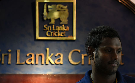 Sri Lanka's cricket captain Angelo Mathews attends a press conference in Colombo on January 13, 2016. (AFP)