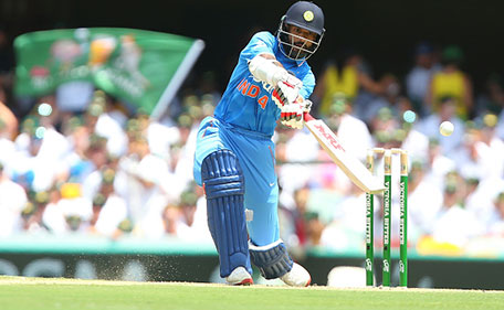 Shikhar Dhawan of India bats during game two of the Victoria Bitter One Day International Series between Australia and India at The Gabba on January 15, 2016 in Brisbane, Australia. (Cricket Australia/Getty Images)