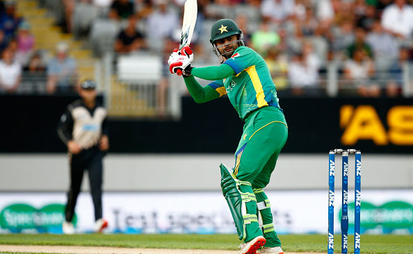 Ahmed Shahzad of Pakistan bats during the first T20 match at Eden Park on January 15, 2016 in Auckland, New Zealand. (Getty Images)