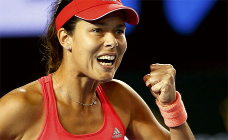 Serbia's Ana Ivanovic reacts during her second round match against Latvia's Anastasija Sevastova at the Australian Open tennis tournament at Melbourne Park, Australia, January 21, 2016. (Reuters)