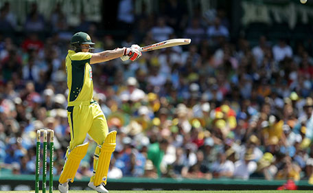 Steve Smith of Australia bats during game five of the Commonwealth Bank One Day Series match between Australia and India at Sydney Cricket Ground on January 23, 2016 in Sydney, Australia. (Getty Images)