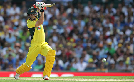 Mitchell Marsh of Australia bats during game five of the Commonwealth Bank One Day Series match between Australia and India at Sydney Cricket Ground on January 23, 2016 in Sydney, Australia. (Getty Images)