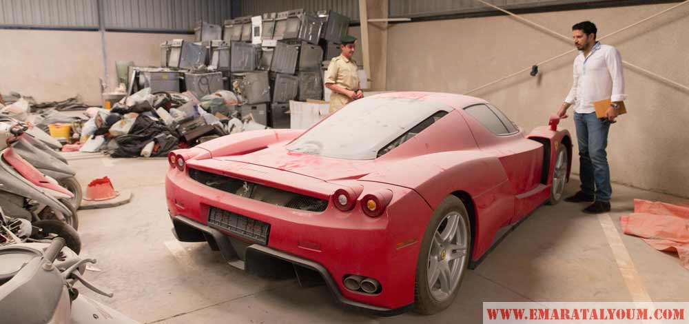 Rare Ferrari In Dubai Police Pound For 6 Years