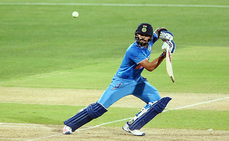 Virat Kohli of India bats during game one of the Twenty20 International match between Australia and India at Adelaide Oval on January 26, 2016 in Adelaide, Australia. (Getty Images)
