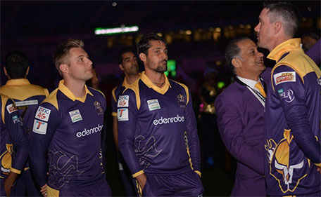 The Quetta Gladiators during the opening ceremony of PSL. (Supplied)